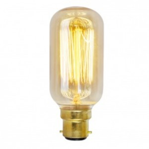 18833  SQUIRREL CAGE TUBULAR SHAPE BC/ B22 40W DECORATIVE BULB
