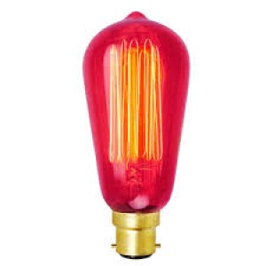 18501  SQUIRREL CAGE VINTAGE PEAR SHAPE BC BULB - 60W