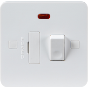 PURE 13A SWITCHED FUSED SPUR UNIT WITH NEON - 9MM