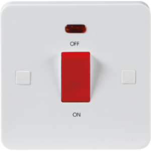 PURE 45A DP SWITCH WITH NEON (SINGLE SIZE) -9MM