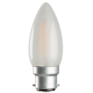 CL2BCO 230V 2W LED 35mm Candle BC FROSTED