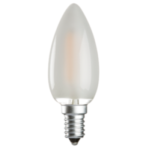 CL2SESO  230V 2W LED 35mm Candle SES FROSTED