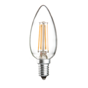CL4SESC 230V 4W LED 35mm Candle SES CLEAR