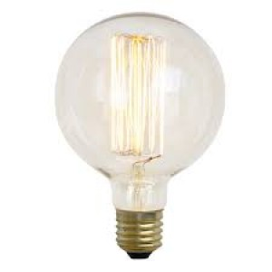 18897 SQUIRREL CAGE GLOBE SHAPE ES/ E27 40W DECORATIVE BULB