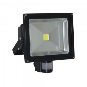 SN-30PR-CW  S2N LED 30W FLOOD LIGHT WITH PIR SENSOR COOL WHITE IP65