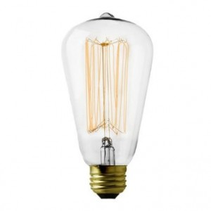 18503  SQUIRREL CAGE VINTAGE PEAR SHAPE ES BULB - 60W