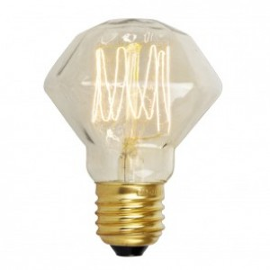 18726 SQUIRREL CAGE DIAMOND SHAPE ES/ E27 40W DECORATIVE BULB - CLEAR GLASS