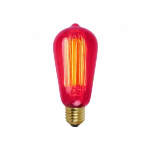 18498  SQUIRREL CAGE VINTAGE PEAR SHAPE ES BULB - 60W