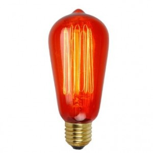 SQUIRREL CAGE VINTAGE PEAR SHAPE ES BULB - 60W