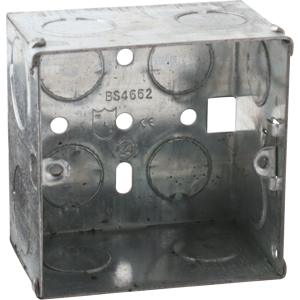 1G 47MM GALVANISED STEEL BOX(PACK OF 10)