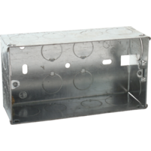 2G 47MM GALVANISED STEEL BOXES (PACK OF 10)