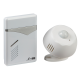 DC006 WIRELESS PIR DOOR CHIME  - WHITE (100M RANGE)