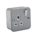 M7000  METAL CLAD 13A 1G DP SWITCHED SOCKET