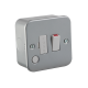 M6300FM METAL CLAD 13A SWITCHED FUSED SPUR UNIT WITH FLEX OUTLET