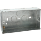 2G 35MM GALVANISED STEEL BOXES (PACK 0F 10)