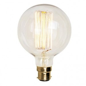 18898 SQUIRREL CAGE GLOBE SHAPE BC/ B22 40W DECORATIVE BULB