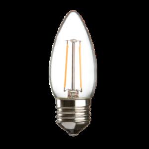 CL2ESC  230V 2W LED 35mm Candle ES clear