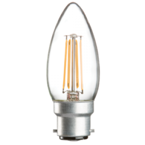 CL4BCC  230V 4W LED 35mm Candle BC CLEAR