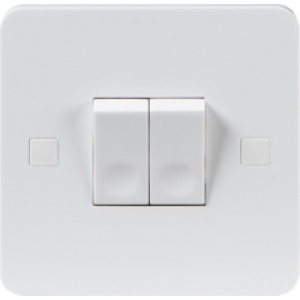 PURE 10A 2G 2 WAY SWITCH - 4MM
