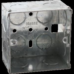 1G 47MM GALVANISED STEEL BOX(PACK OF 10)