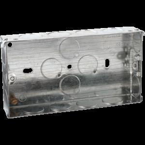 2G 25MM GALVANISED STEEL BOX(PACK  OF 10)