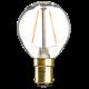 GB4SBCC  230V 4W LED 45mm Golf Ball SBC CLEAR
