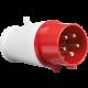 IN0014 415V IP44 16A PLUG 3P+N+E