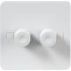 PURE 2G 2 WAY 40-400W DIMMER - 4MM