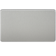 SF8360   SCREWLESS 2G BLANKING PLATE - BRUSHED CHROME
