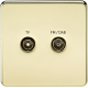 SF0160 SCREWLESS SCREENED DIPLEX OUTLET (TV & FM DAB)