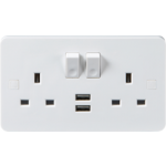 PURE 13A 2G DP SWITCHED SOCKET WITH DUAL USB