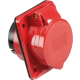 IN0017 415V IP44 16A ANGLED PANEL MOUNT SOCKET 3P+N+E