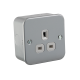M7000U METAL CLAD 13A 1G UNSWITCHED SOCKET