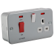 M8333N METAL CLAD 45A DP SWITCH & 13A SWITCHED SOCKET WITH NEONS