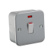 M8341N  METAL CLAD 1G 20A DP SWITCH WITH NEON
