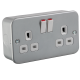 M9000 METAL CLAD 13A 2G DP SWITCHED SOCKET
