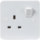 PURE 13A 1G DP SWITCHED SOCKET - 4MM