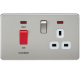 SF8333N SCREWLESS 45A DP SWITCH & 13A SWITCHED SOCKET WITH NEONS
