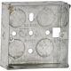 1G 25MM GALVANISED STEEL BOXES (PACK OF 10)