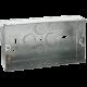 2G 35MM GALVANISED STEEL BOXES (PACK 0F 10)